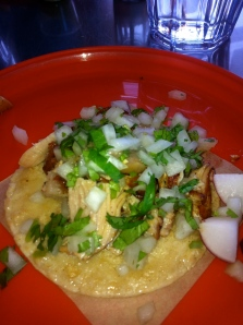Fatty pork taco